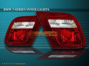 00 01 02 BMW 323 330 328 325 INNER TAIL LIGHTS RED 2-DOOR COUPE 2000 2001 2002