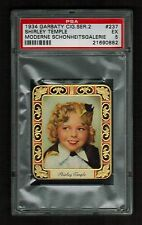 PSA 5 SHIRLEY TEMPLE 1934 Garbaty Cigarette Card #237 Beautiful