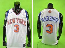 adidas New York Knicks Basketball Jersey NBA Shirt Stephon MARBURY 3 SIZE L