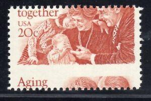 1982 US SC 2011 20c Aging Together - EFO Error - MNH