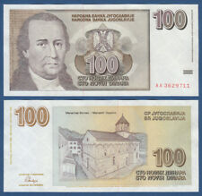 JUGOSLAWIEN / YUGOSLAVIA 100 Novih Dinara 1996 UNC P.152