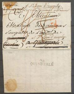 1813 Acquitté à Quimperlé + 28/QUIMPERLE  au dos (2ème type) Superbe X5062