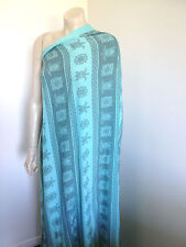 Turquoise Rayon with Turtle Print 1.5 meters x 118cm