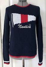 Nautica Signal Flag Logo Sweater Sail Yacht XS