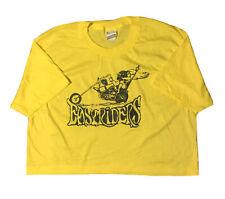 Vintage Screen Stars Cropped T-shirt Easyrider Harley Davidson Single Stitch XL