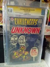 Challengers of Unknown #69 DC CGC SS Joe Kubert Hawkman Batman AUTO Autograph