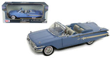 1960 Chevrolet Impala Convertible Blue 1/18 Diecast Car Model By Motor Max 73110