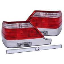 ANZO TAIL LIGHTS RED / CLEAR LENS FOR 97-99 MERCEDES BENZ S CLASS W140