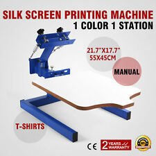 1 Color 1 Station Silk Screen Printing Machine T-Shirt Press Equipment DIY