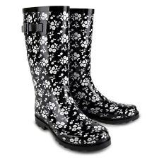WOMENS LADIES WATERPROOF WELLIES LONG CALF WELLINGTON RAIN SNOW BOOTS FESTIVAL