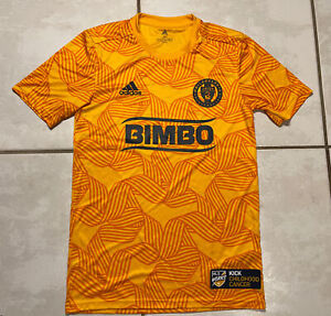 ADIDAS Philadelphia Union MLS 2019 KICK CHILDHOOD CANCER Pre-Match Jersey XS