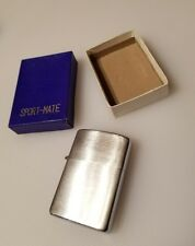 Rare UNUSED Vintage Collectible Chrome Finish Japan Sport-Mate Lighter w/ Box
