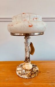 Original large Solid Marble Art Deco Table Lamp from Russia c.1930