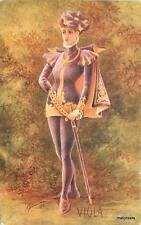 C-1910 Fife Scotland Lady Warrior Viola Cynicus postcard 5634