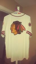 Vintage Chicago Blackhawks Script Throwback Baseball Starter Jersey Xl! Nhl