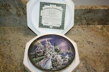 Moonlit Manor Plate by Mimi Jobe with Coa-Kingdom of Enchantment Collection-New