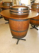 Oak Wine Barrel Bar Top Tables Handcrafted French Vineyard Logos