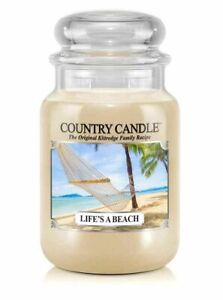 ☆☆LIFE'S A BEACH☆☆ LARGE COUNTRY CANDLE JAR 23OZ.~☆☆FREE FAST SHIPPING