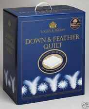 New LOGAN MASON 42/58 DOWN & FEATHER KING QUILT/DOONA 100% Cotton Japara Cover