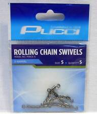 P-Line P5RC5-5 Pucci 5 Barrel Rolling Chain Fishing Swivels Package of 5 Size 5