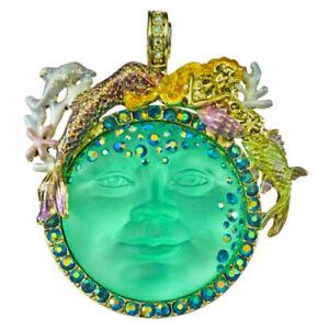Kirks Folly Mermaid Goddess Seaview Moon Magnetic Enhancer goldtone