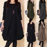 Women's Oversized Long Sleeve Sweatshirt Blouse Loose Tunic T-Shirts Jumper Tops