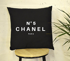 Black & White No5 PARIS Inspiration Cushion  Chanel Cotton Luxury Fashion