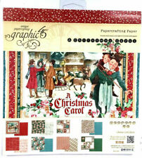 NEW - 2015 Graphic 45 - A Christmas Carol - 8x8 Paper Pad - 24 Sheets - Retired