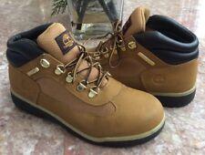 Timberland Big Kid Wheat Brown Leather Scuff Proof Field 34957M Boots Sz 6 EUC!