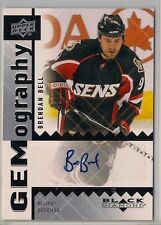 2008-09 Black Diamond Gemography #GBB Brendan Bell AUTOGRAPH with COA on card