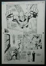 Original Comic Art Letterpress JUSTICE LEAGUE Quarterly CAPTAIN MARVEL - RARE