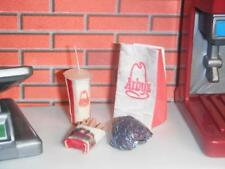 Bag of Arby's Roast Beef Sandwich Fries Soft Drink fits Loving Family Dollhouse