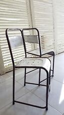 white vintage outdoor metal chairs - modern style vintage indoor metal chairs