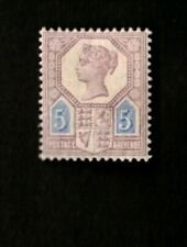 Great Britain 1887 5p Lilac & Blue Sc# 118 Mint Hinged