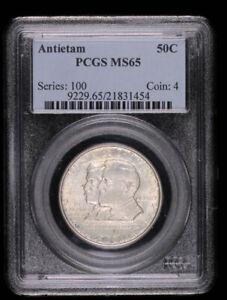 1927 Antietam Commemorative Half Dollar : PCGS MS65