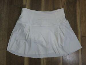 Lululemon Women's White Hit Your Stride Tennis Skirt Short Size 6 Tall