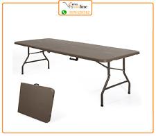 Tavolo pieghevole da giardino 180 cm in resina richiudibile marrone Plastik