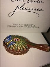 Estee lauder, Pleasures Boudoir butterfly solid perfume compact (signed!!!)