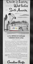 Canadian Pacific Lines Empress Of Scotland To West Indies Caribbean 1950'S Ad
