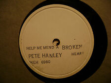 TEST PRESSING OKEH 78 RECORD/PETE HANLEY/HELP ME MEND A BROKEN HEART/COME BACK