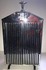 rolls royce Liquor Cabinet hood ornament Grill Royal London Almart Vintage Metal