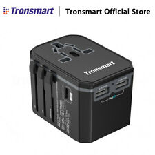 Tronsmart 33W Universal Travel Adapter Type-C 2X VoltIQ USB plug World  R
