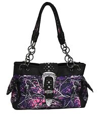 Muddy Girl Purple Pink Camo Concealed Carry Handgun Purse