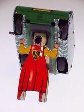 "GSCOM  ""SUPERMAN TURNOVER TANK"" LINEMAR TOYS JAPAN 1960, WIND UP OK, LIKE NEW !"