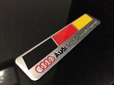 Voiture en aluminium brossé emblème badge Decal Audi Sport Germany Team Goh Flag