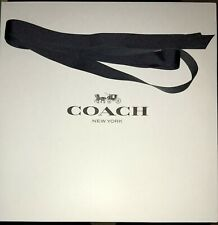 """Coach Empty Gift Box 14"""" x 14"""" x 5.5"""" Authentic Great Condition With Ribbon"""