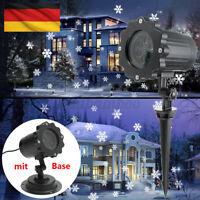 LED Projektionslampe Schneeflocke Projektor Weihnachten Party Garten Schneefall