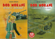 "EO HENRI VERNES BOB MORANE N° + DÉDICACE CYCLE COMPLET "" OVERLORD "", 2 TOMES"