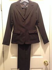 Macy's NEW YORK & COMPANY 2pc Very Dark Brown Blazer and Pant Suit Size 2