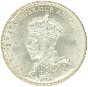 Canada - Silver 1 Dollar Coin - 'Silver Jubilee' - 1935 - AU